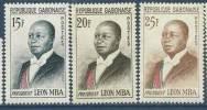 """Gabon YT 159 159A 159B """" Président Léon MBA """" 1962 Neuf** - Gabon (1960-...)"""