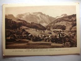 Carte Postale Mont Saxonnex (74) Le Bourgeal - Le Mont Bargy Et Pointe Du Midi (Petit Format Noir Et Blanc Non Circulée) - Autres Communes