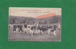 23-CAMP MILITAIRE De La COURTINE (Creuse)-EQUIPE De FOOT-BALL Du 78e-En TOUCHE-RUGBY-Edit.EYBOULET Frères à USSEL - France