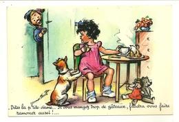 FANTAISIE ILLUSTRATEUR GERMAINE BOURET SERIE N° 1213 5/1 M D PARIS RAMONEUR POUPEE OURS ENFANTS CHIEN - Bouret, Germaine