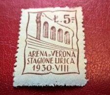 ERINNOFILI VIGNETTE CINDERELLA - ARENA VERONA STAGIONE LIRICA 1930 - Erinnofilia