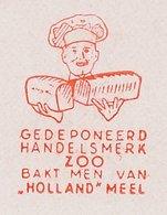 Meter Cut Netherlands 1953 Baker - Bread - Profesiones