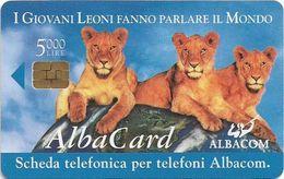 Italy - Albacom - Chip - ALB-01 - 3 Lions - 5,000₤, 31.12.2000, 20.000ex, Used - Italië
