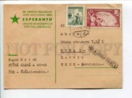 292913 Czechoslovakia To USSR 1958 Year ESPERANTO Real Post Postcard - Czechoslovakia