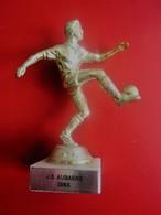 JEUNESSE SPORTIVE AUBAGNE 1983 TROPHÉE STATUETTE RÉCOMPENSE VAINQUEUR TOURNOI DE FOOTBALL  FOOT-Sport Football Futball - Other