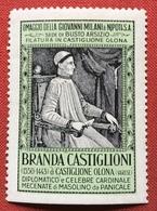 CASTIGLIONE OLONA  FILATURA GIOVANNI MILANI  BRANDA CASTIGLIONI  CARDINALE E MECENATE    ERINNOFILO - Erinnophilie