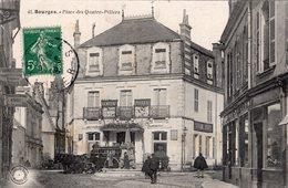 2764 Cpa 18 Bourges - Place Des Quatre Piliers - Bourges