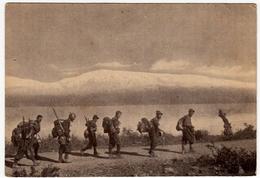 MILITARI - BTG. ALPINI INTRA - FRONTE GRECO ALBANESE - OLTRE LIN LUNGO IL LAGO D'OHRIDA -Vedi Retro - Guerra 1939-45