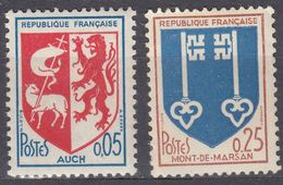 FRANCE - 1966 - Serie Completa Formata Da 2 Valori Nuovi MH: Yvert 1468/1469. - 1941-66 Stemmi E Stendardi