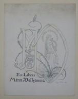 Ex-libris Illustré Français XXème - MINA DELHOMME - Ex-libris