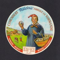 """Etiquettes De Fromage. Camembert """"Malvina"""".  Fromagerie Buquet à Mittois (14). - Quesos"""