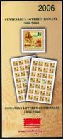 Romania 2006 / Romanian Lottery Centennial / Prospectus, Leaflet, Brochure - 1948-.... Républiques