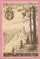 Carte Signée JJ WALTZ - HANSI - 16/ 17 Avril 1898 - RIBEAUVILLE - Chateau St ULRICH - 3 Scans - Voir état + Description - Hansi