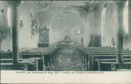 57 SCHNECKENBUSCH / Intérieur De L'église - Ruines 1914 / - Autres Communes