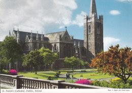 Ireland PPC St.Patrick's Cathedral, Dublin, Ireland John Hinde Original 1971 PASADENA Calif. USA (2 Scans) - Dublin
