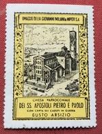 BUSTO ARSIZIOCHIESA SS.APOSTOLI PIETRO E PAOLO  OMAGGIO FILATURA GIOVANNI MILANI   ETICHETTA PUBBLICITARIA  ERINNOFILO - Erinnofilia