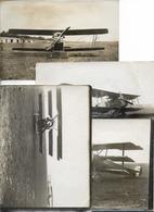 AVIONS ANCIENS -lot De 4 Photos - Avions