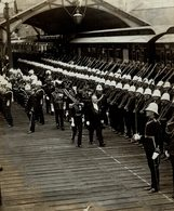 PORTSMOUTH THE PRESIDENT THE PRINCE OF WALES ARRIVAL OF M POMCARE Fonds Victor FORBIN (1864-1947) - War, Military