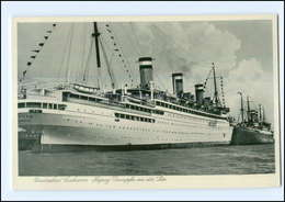 U6368/ Hapag Dampfer An Der Pier In Cuxhaven AK Ca.1935 - Paquebots