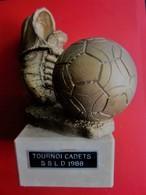 TOURNOI CADETS SSLD DUNKERQUE 1988 TROPHÉE STATUETTE RÉCOMPENSE VAINQUEUR TOURNOI FOOTBALL FOOT-Sport Football Futball - Calcio