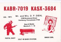 AN14 QSL Card - Pistol Shot And Bingo Girl - CB