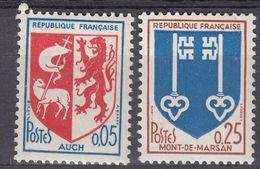 FRANCE - 1966 - Serie Completa Formata Da 2 Valori Nuovi MNH: Yvert 1468/1469. - 1941-66 Stemmi E Stendardi