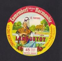 Etiquettes De Fromage. Camembert LANQUETOT à Orbec En Auge (14). - Quesos