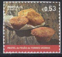 Portugal 2018 Oblitéré Sur Fragment Used Dessert Traditionnel Pastel De Feijão De Torres Vedras - 1910-... République