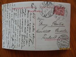 IMP. RUSSIA FINLAND 1912 KYRKSLÄTT KIRKKONURMI  KERKSLET  , OLD POSTCARD   , O - 1857-1916 Imperium