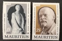 MAURITIUS 1970 Birth Cent. Of Lenin - Mauritius (1968-...)