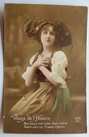 CPA Carte Patriotique Voeux D'Alsace Guerre 14-18 Thérèse Guibout Pensionnat Notre Dame à Flers 61 - Weltkrieg 1914-18