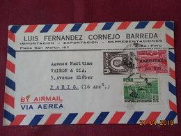 Lettre à Destination De Paris - Peru
