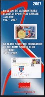 Romania 2007 / 60 Years Since The Foundation Of The Army Sports Club Steaua / Prospectus, Leaflet, Brochure - Briefe U. Dokumente