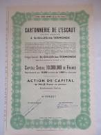 Cartonnerie De L'Escaut - Saint Gilles Lez Termonde - Action De Capital De 1000 Fr - Industrie