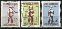 MOZAMBIQUE 1953 - Mi. 416 O, Sculptur Of A Missionar | Art | Sculptures | Exhibitions - Mozambique
