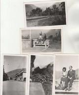 Lot 5 Photos Format 11,5 X 7,5 Cm - 1944 LUCHON Haute Garonne 2 Scan - Lieux