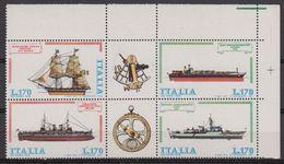 Italy 1978 Ships / Naval Fleet 4v (corner) ** Mnh (42484A) - 1971-80: Nieuw/plakker