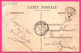 Marne - SAINT HILAIRE AU TEMPLE - Cachet B Perlé - Cachet Perlé FOUCHERANS - 1913 - Sur Cp Châlons, Vue Des Tentes - Marcofilie (Brieven)