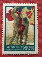 TORINO 1911 TURIN 1911 EXPOSITION  INTERNATIONALE   ETICHETTA PUBBLICITARIA  ERINNOFILO - Erinnofilia