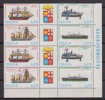 Italy 1977 Ships / Naval Fleet 2x4v (corner) ** Mnh (42484C) - 1971-80: Nieuw/plakker