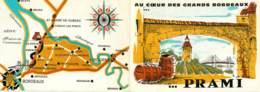 PUBLICITE VINS PRAMI - Saint Loubes - Grands VINS DE BORDEAUX - Alcohols