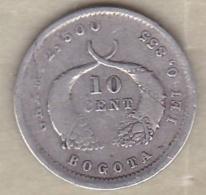 Colombie 10 Centavos 1880 Bogota , En Argent .KM# 175.1 - Colombia