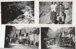 Lot 4 Photos Format 8,5 X 6 Cm - 1951 LUCHON Haute Garonne - 2 Fête Des Fleurs, 2 Vallée Du Lys - 2 Scan - Lieux