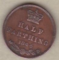 Grande-Bretagne, Half Farthing 1844. Victoria , KM# 738 - A. 1/4 - 1/3 - 1/2 Farthing