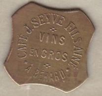 Algérie. Jeton Colonial Café J. Seyve Fils Ainé à Bérard (Aïn Tagourait). 12 ½ Cent, En Laiton Octogonal - Algérie