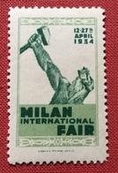 MILANO 1934 MILAN  INTERNATIONAL FAIR   ETICHETTA PUBBLICITARIA  ERINNOFILO - Erinnofilia