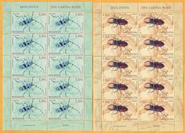 2019 Moldova Moldavie  Red Book. Alpine Longhorn Beetle.  Stag Beetle  Sheet - Insects