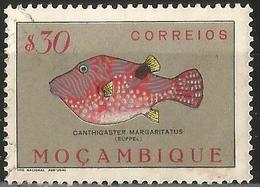 MOZAMBIQUE 1951 - Mi. 389 O, Puffer (Canthigaster Margaritatus) | Animals (Fauna) | Fishes | Sea Life - Mozambique