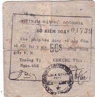 BILLET VIETNAM 50 $ Sur Ancien Billet De 100 Piastres D'Indochine - Viêt-Nam