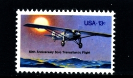 UNITED STATES/USA - 1977  SOLO TRANSATLANTIC FLIGHT  MINT NH - Stati Uniti